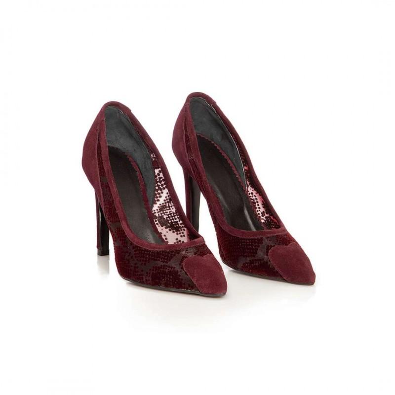 Pantofi Embassy Bordo